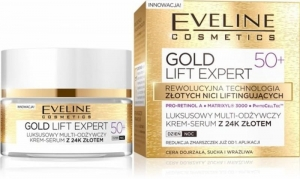 Eveline Gold Lift Expert Krem-serum Odżywczy 50+